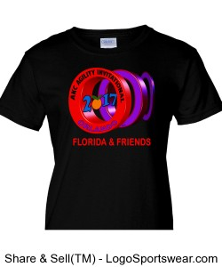 LADIES FLORIDA AND FRIENDS GROUP SHIRT BLACK Design Zoom